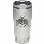 Ohio State Buckeyes Stainless Steel Travel Mug with Pewter Accent