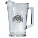 Ohio State University Buckeyes Glass Pitcher with Pewter Accent
