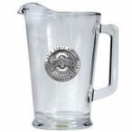 Ohio State University Buckeyes Logo Glass Pitcher with Pewter Accent