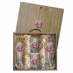 Ohio State University Buckeyes Logo Red Pewter Accent Beer Box Set