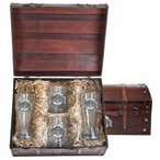 Ohio State University Buckeyes Pewter Accent Beer Chest Box Set