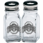 Ohio State University Buckeyes Pewter Accent Salt & Pepper Shakers
