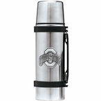 Ohio State University Buckeyes Pewter Accent Stainless Steel Thermos