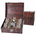 Oklahoma Sooners Pewter Accent Capitol Decanter Chest Set