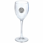 Oklahoma Sooners Pewter Accent Wine Glass Goblets, Set of 2