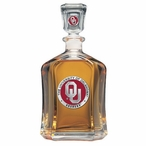 Oklahoma Sooners Red Capitol Glass Decanter with Pewter Accents
