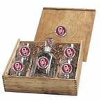 Oklahoma Sooners Red Pewter Accent Capitol Decanter Box Set