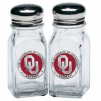 Oklahoma Sooners Red Pewter Accent Salt & Pepper Shakers