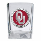 Oklahoma Sooners Red Pewter Accent Shot Glasses, Set of 4