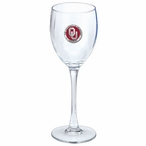 Oklahoma Sooners Red Pewter Accent Wine Glass Goblets, Set of 2