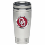 Oklahoma Sooners Red Stainless Steel Travel Mug with Pewter Accent