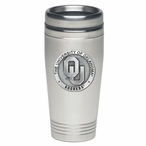 Oklahoma Sooners Stainless Steel Travel Mug with Pewter Accent