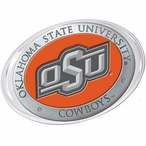 Oklahoma State Cowboys Logo Orange Pewter Accent Paperweight