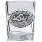 Oklahoma State Cowboys Logo Pewter Accent Shot Glasses, Set of 4