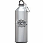 Oklahoma State Cowboys Logo Pewter Stainless Steel Water Bottle