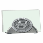 Oklahoma State Cowboys Metal Business Card Holder with Pewter Accent