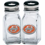 Oklahoma State Cowboys Orange Pewter Accent Salt & Pepper Shakers