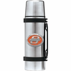 Oklahoma State Cowboys Orange Pewter Accent Stainless Steel Thermos