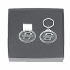 Oklahoma State Cowboys Pewter Accent Money Clip & Key Chain Gift Set