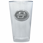 Oklahoma State Cowboys Pewter Accent Pint Beer Glasses, Set of 2