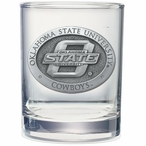 Oklahoma State Cowboys Pewter Double Old Fashion Glasses, Set of 2