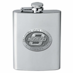 Oklahoma State Cowboys Stainless Steel Flask with Pewter Accent