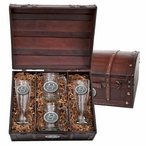 Oklahoma State University Cowboys Pewter Accent Beer Chest Box Set