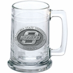 Oklahoma State University Cowboys Pewter Accent Glass Beer Mug