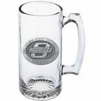 Oklahoma State University Cowboys Pewter Accent Glass Super Beer Mug