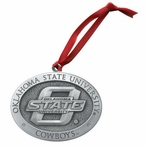 Oklahoma State University Cowboys Pewter Accent Ornaments, Set of 2