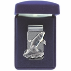 Orca Whale Steel Money Clip with Pewter Accent