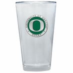Oregon Ducks Green Pewter Accent Pint Beer Glasses, Set of 2