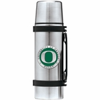 Oregon Ducks Green Pewter Accent Stainless Steel Thermos