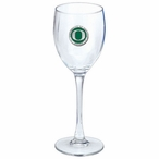 Oregon Ducks Green Pewter Accent Wine Glass Goblets, Set of 2