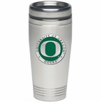 Oregon Ducks Green Stainless Steel Travel Mug with Pewter Accent