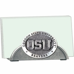 Oregon State Beavers Metal Business Card Holder with Pewter Accent