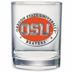 Oregon State Beavers Orange Pewter Accent DOF Glasses, Set of 2