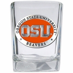 Oregon State Beavers Orange Pewter Accent Shot Glasses, Set of 4
