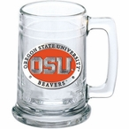 Oregon State University Beavers Orange Pewter Accent Glass Beer Mug