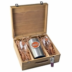 Oregon State University Beavers Orange Pewter Accent Wine Box Set