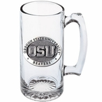 Oregon State University Beavers Pewter Accent Glass Super Beer Mug