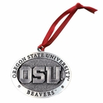 Oregon State University Beavers Pewter Accent Ornaments, Set of 2
