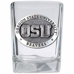 Oregon State University Beavers Pewter Accent Shot Glasses, Set of 4