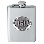 Oregon State University Beavers Stainless Steel Flask w/ Pewter Accent