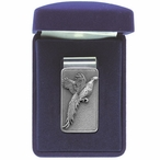 Pheasant Steel Money Clip with Pewter Accent