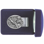 Pheasants Steel Money Clip with Pewter Accent