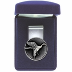 Pintail Duck Steel Money Clip with Pewter Accent