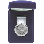 Proud To Be A Democrat Steel Money Clip with Pewter Accent