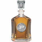 Purdue Boilermakers Capitol Glass Decanter with Pewter Accents