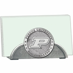 Purdue Boilermakers Metal Business Card Holder with Pewter Accent